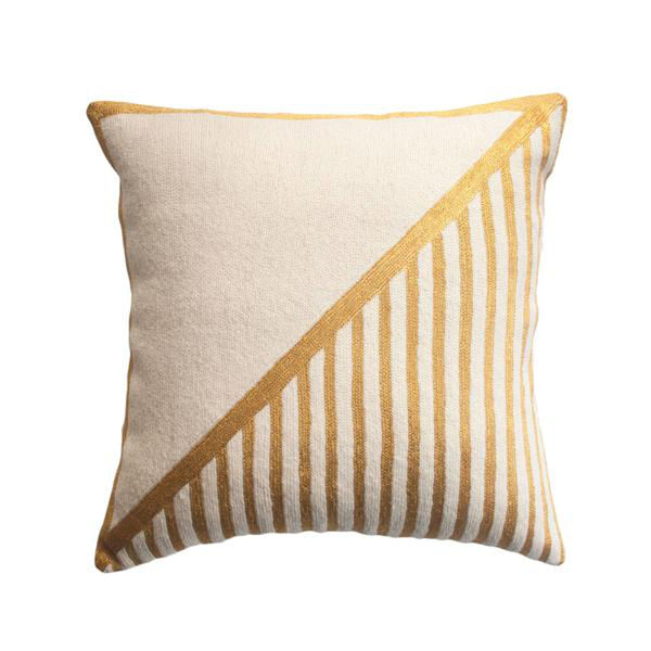 Nicole Stripe Pillow by Leah Singh