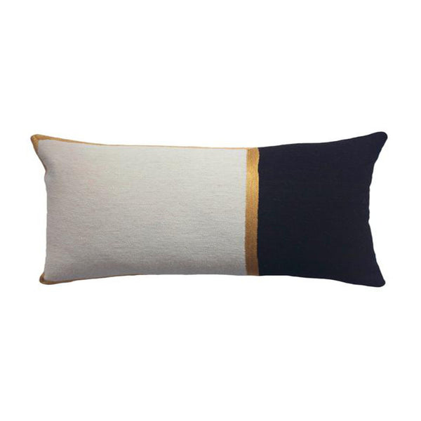 Nicole Ivory and Ebony Pillow by Leah Singh