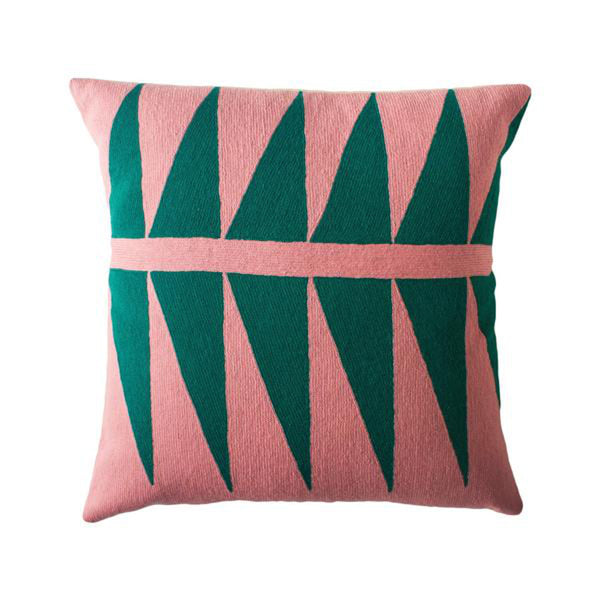 Palm Springs Emerald Pillow by Leah Singh