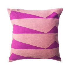 Palm Springs Hot Pink Pillow by Leah Singh