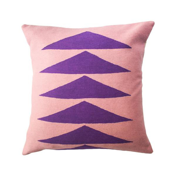 Palm Springs Purple Pillow by Leah Singh