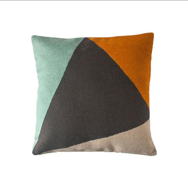 Phoenix Colorblock Pillow by Leah Singh