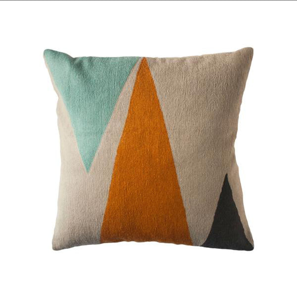 Phoenix Mountain Pillow by Leah Singh