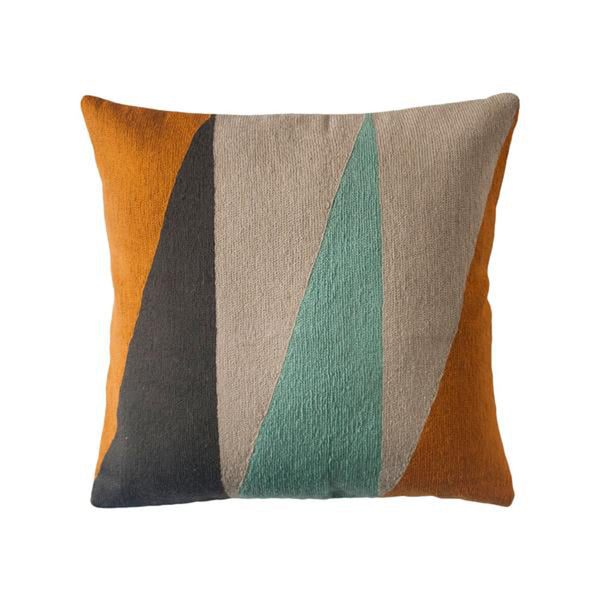 Phoenix Triangles Pillow by Leah Singh