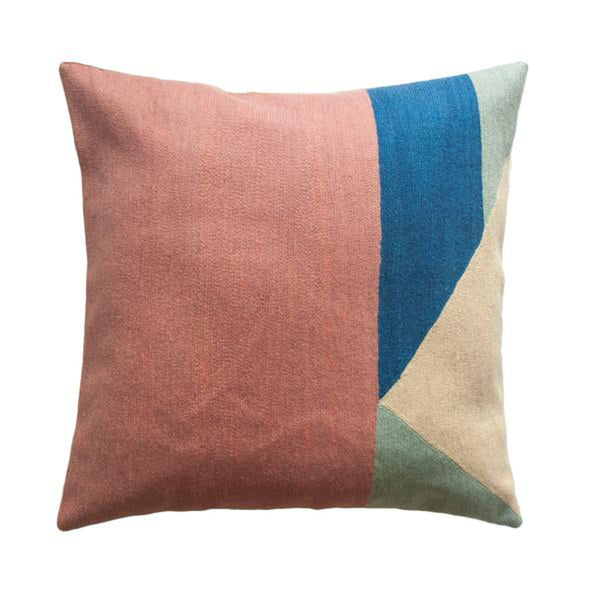 Renzo Pastel Pillow by Leah Singh