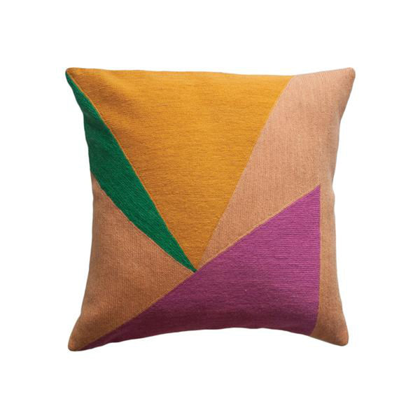Renzo Triangles Pillow by Leah Singh