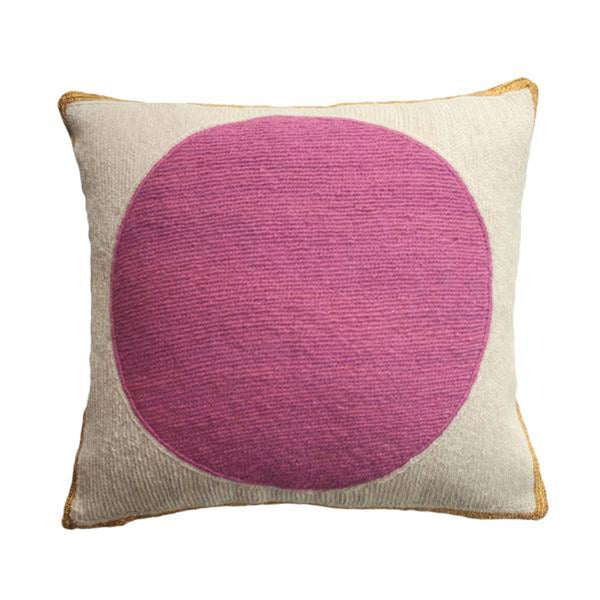 Rose Ivory Pillow by Leah Singh