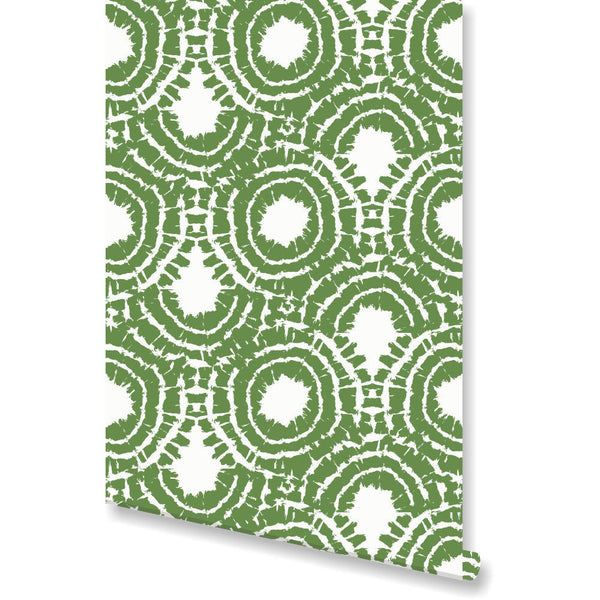 Rhapsody Green Wallpaper by Clairebella Studio