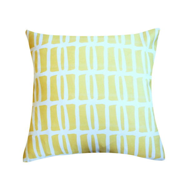 Riley Yellow Pillow by Clairebella Studio