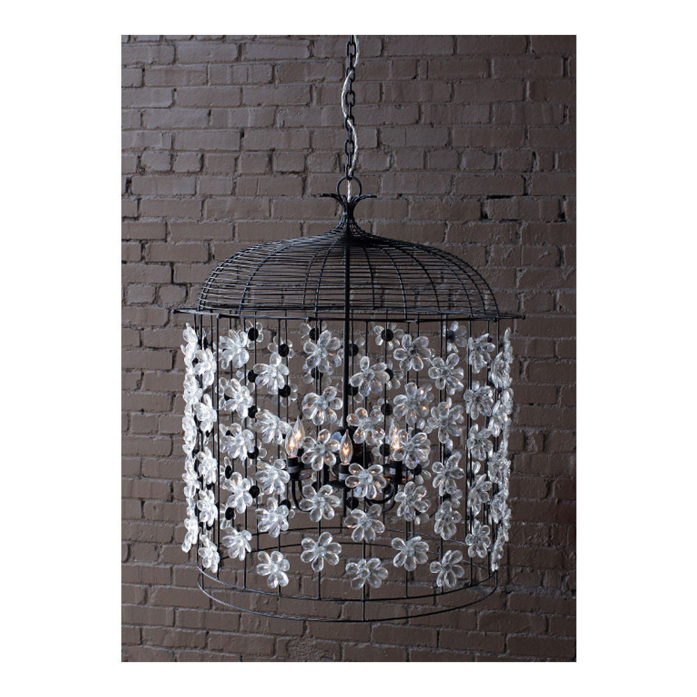 Solaria birdcage chandelier metal finish crystal flower salut home birdcage chandelier by solaria lighting chandelier solaria lighting salut home aloadofball Gallery