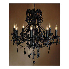 Madame Noire Chandelier by Solaria Lighting - Chandelier - Solaria Lighting - Salut Home