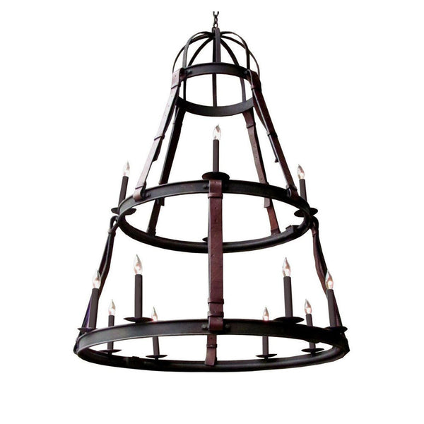 Cordiff Chandelier with Leather by Solaria Lighting