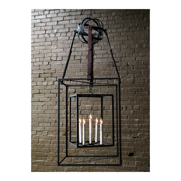 Dos Cubos Lantern Large With Leather by Solaria Lighting