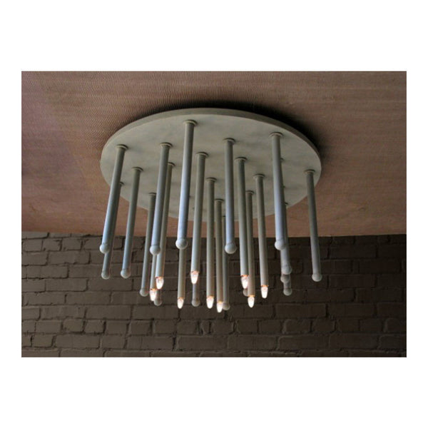 El Tubo Ceiling Light Fixture Round by Solaria Lighting