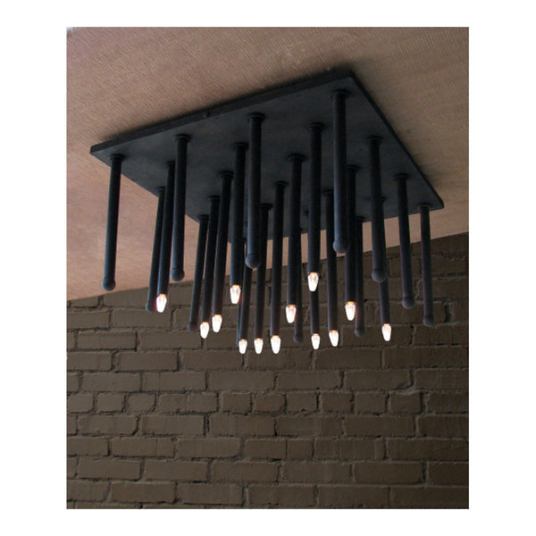 El Tubo Ceiling Light Fixture Square by Solaria Lighting