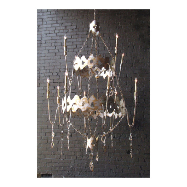 Brutalist Chandelier by Solaria Lighting