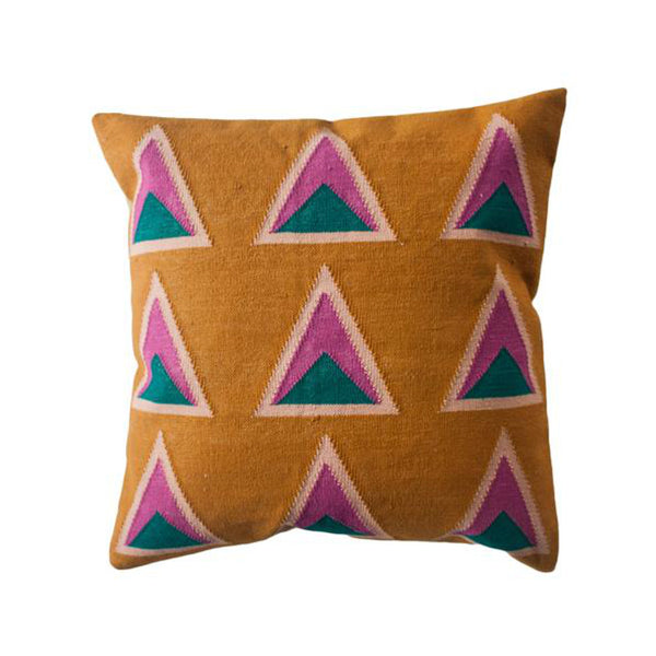 Maya Ochre Pillow by Leah Singh