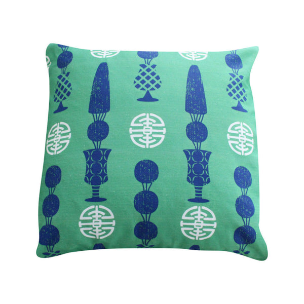 Topiary Green Pillow by Clairebella Studio