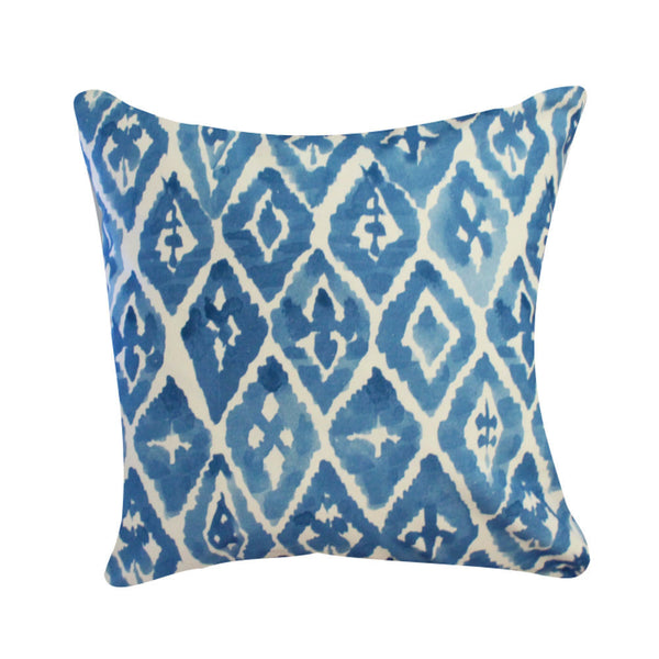 Watercolor Ikat Pillow by Clairebella Studio