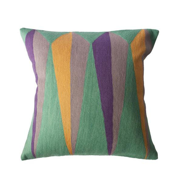 Zimbabwe Root Summer Pillow by Leah Singh