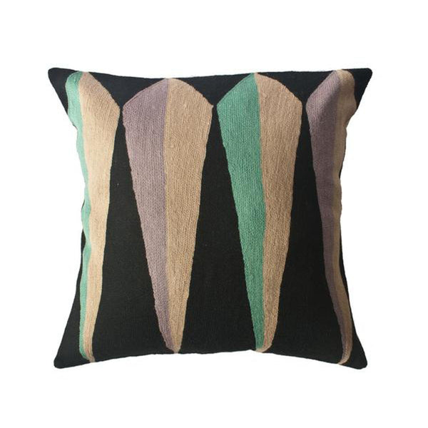 Zimbabwe Root Winter Pillow by Leah Singh