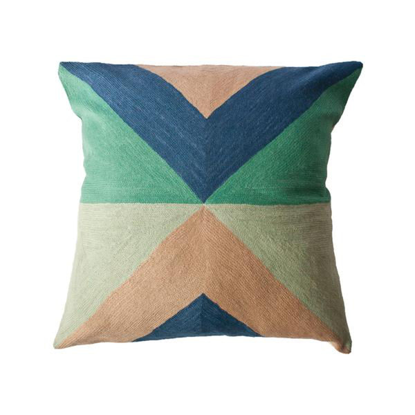 Zimbabwe West Spring Pillow by Leah Singh