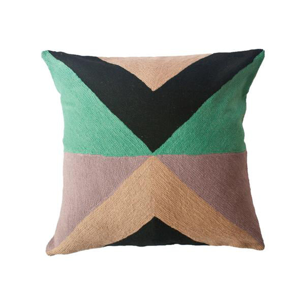 Zimbabwe West Winter Pillow by Leah Singh