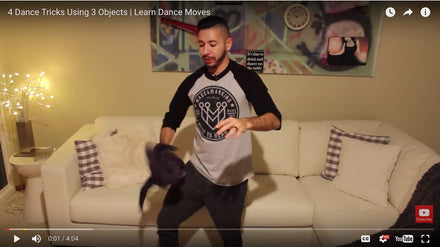 4 Dance Tricks Using 3 Objects / Unique Dance Moves