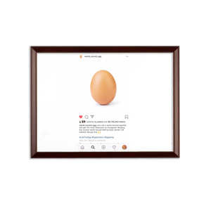 IG World Record Egg Sublimation Wall Plaque