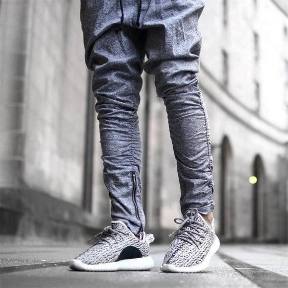 Hip Hop Joggers With Zipper Legging