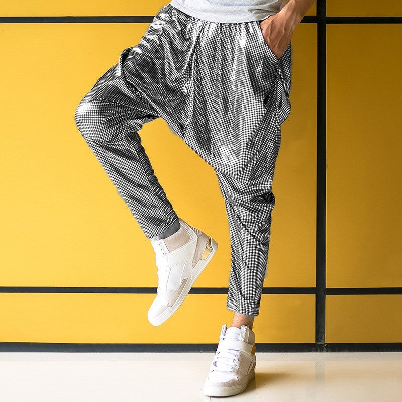 silver hip hop pants