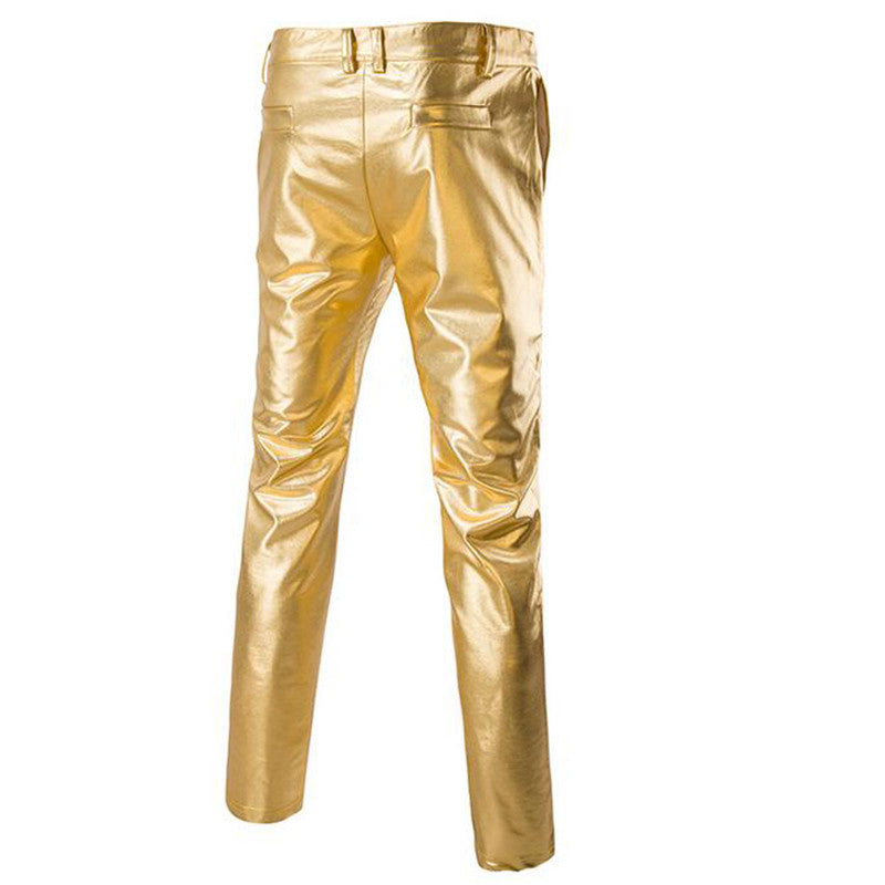 gold hip hop pants