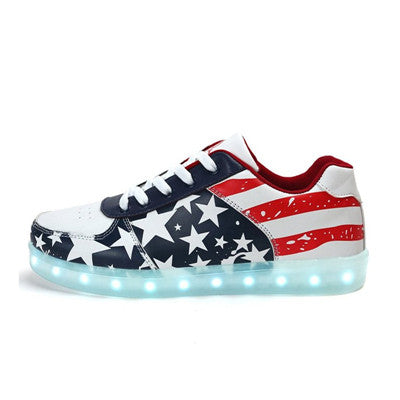 american flag light up shoes