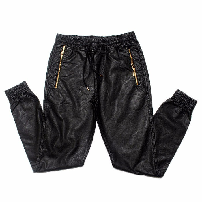 Hip Hop Leather Joggers