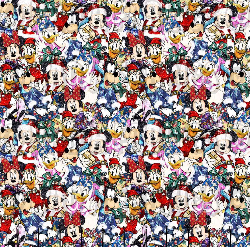 Disney Holiday Mashup Cotton Woven (Retail)