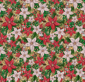 Holiday Poinsettia Cotton Lycra (Retail)