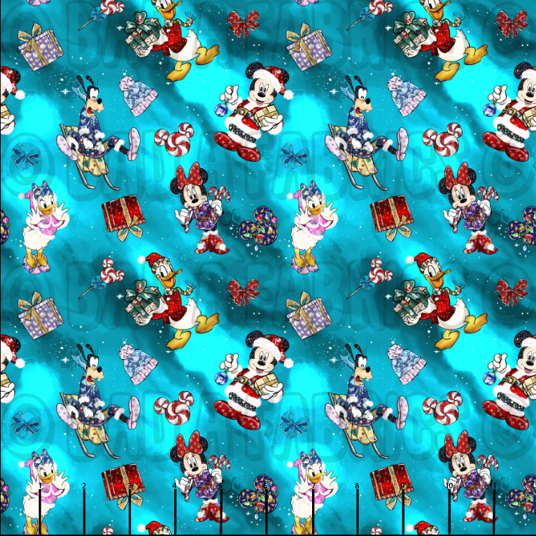 Mickey Santa Double Sided Minky (Retail)