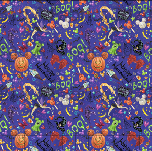 Disney Halloween Cotton Lycra (Retail)