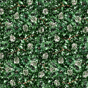 Evergreen Glitter Cotton Woven (Retail)