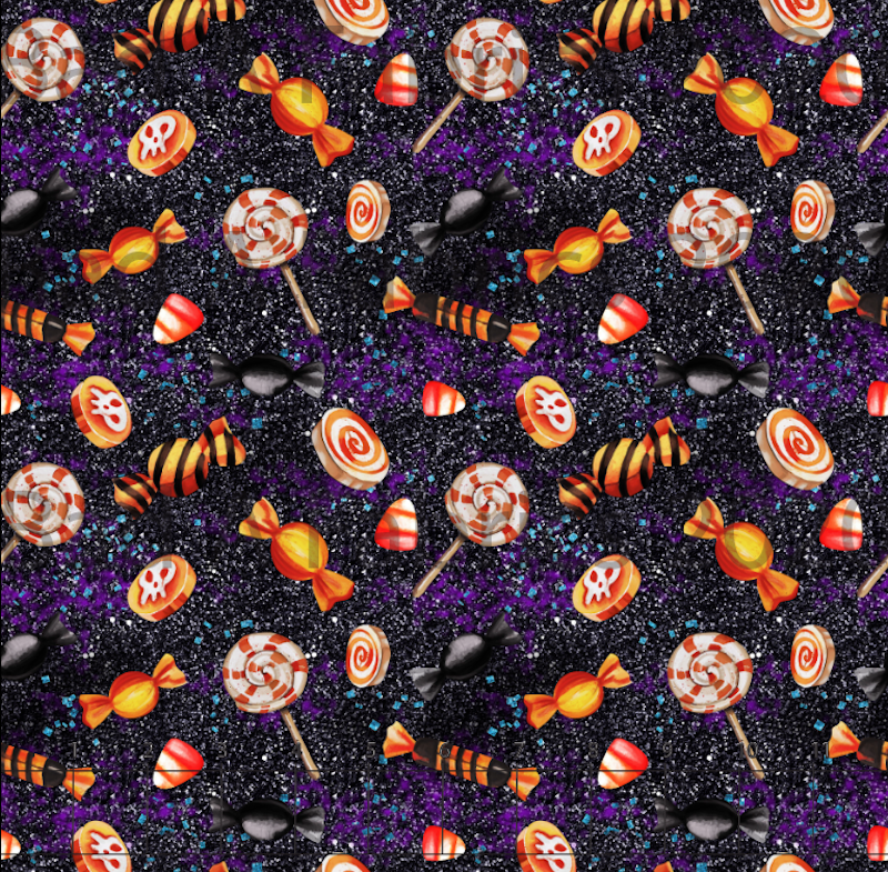 Halloween Candy Cotton Lycra (Retail)