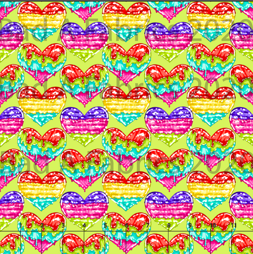 Ice Cream Hearts Bamboo Lycra (Retail)