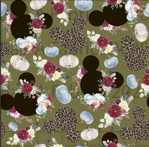 Leopard Floral Mickey (Preorder)