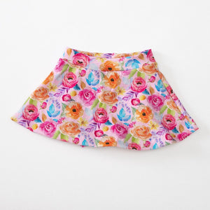 Pink & Orange Floral Cotton Lycra (Retail)