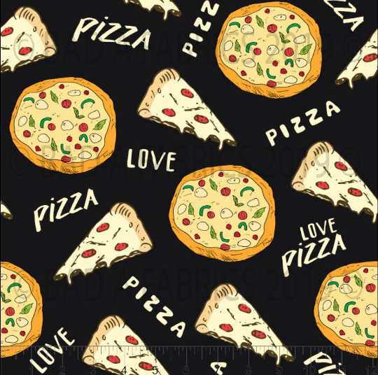 Pizza Love Cotton Woven (Retail)