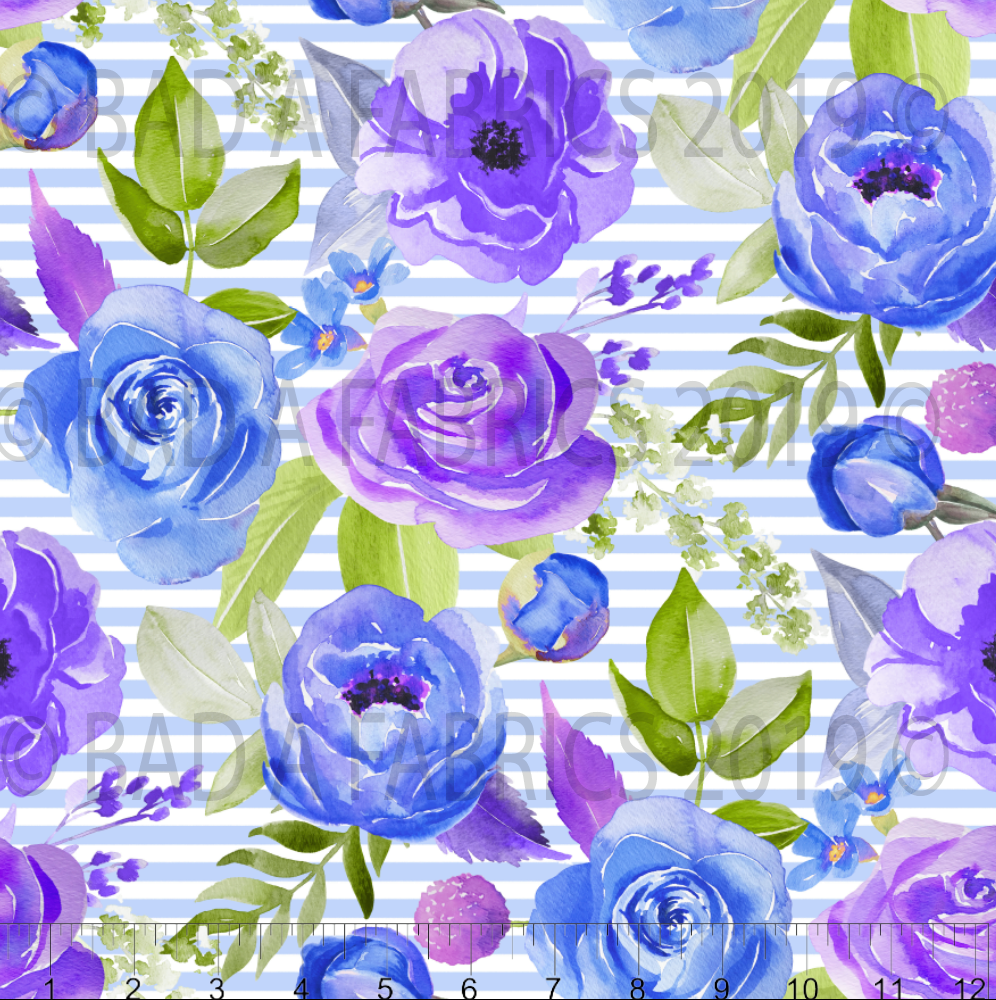 Purple Floral Fabric (Preorder)