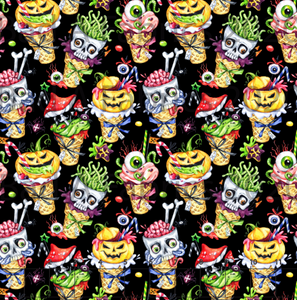 Spooky Ice Cream Double Sided Minky (Retail)