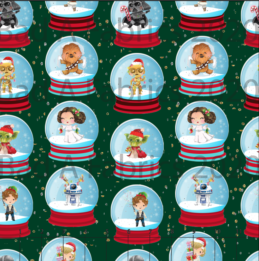 Star Wars Snow Globes Cotton French Terry (Retail)