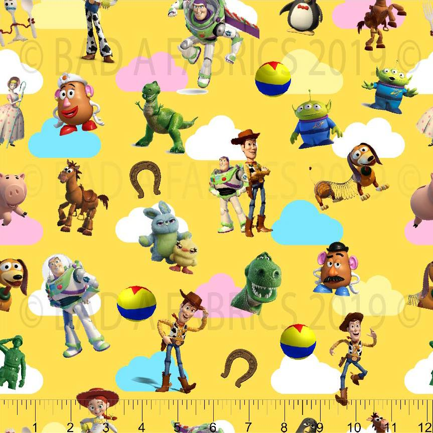 Yellow Toy Story Fabric (Preorder)