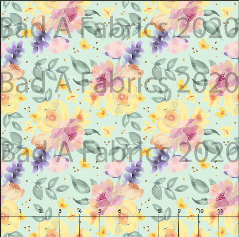 Watercolor Yellow & Pink Floral (Preorder)