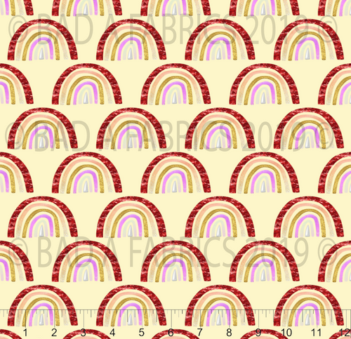 Yellow Rainbows Double Sided Minky (Retail)